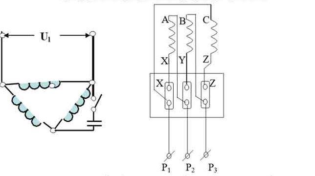 Cách mắc Motor 3 pha hình tam giác